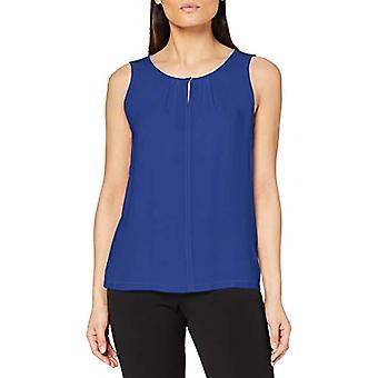 Tom Tailor Lurex Materialmix T-Shirt, 12437-Deep Ultramarine Blue, XXL Women