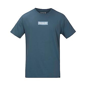Hurley O&O Small Box Tee Short Sleeve T-Shirt in Thunderstorm