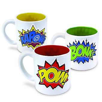 BigMouth Inc. Pow Bonk Kapow Mugs 3pk
