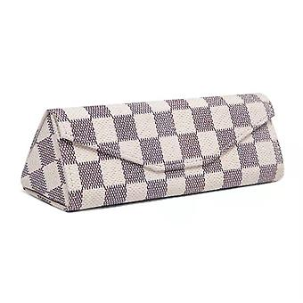 Shell Case For Glasses Protection Checkered Pattern