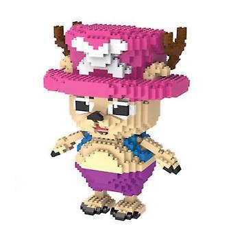 One Piece Chopper Building Blocks Puzzle Micro 3d Figures Plastic Educational Brick Toys
