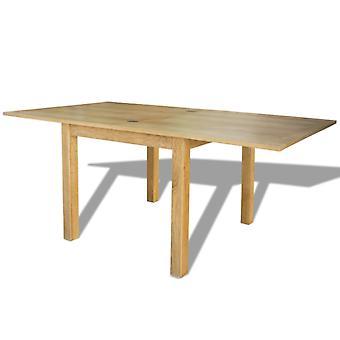 vidaXL Uitschuifbare tafel eiken 170x85x75 cm