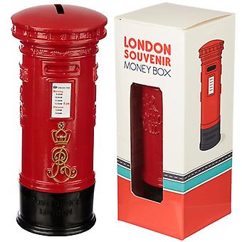 Red Post Box Diecast London Souvenir Money Box