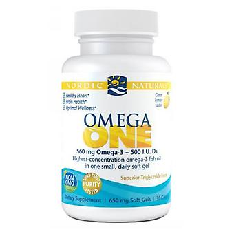 Nordic Naturals Omega One, Lemon 30 Softgels