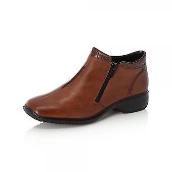 Rieker L3882-24 Doro Leather Short Boot In Tan