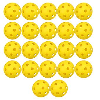 22pcs Plastic Balls Official Size Ball Set For Indoor Outdoor Courts Practice (yellow)