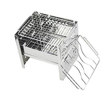 Outdoor camping wood stove portable folding stainless steel firewood stove burning picnic wood stove accessories hot sell