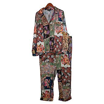 Tolani Collection Damen Pyjama Set Blumendruck Lavendel A390127