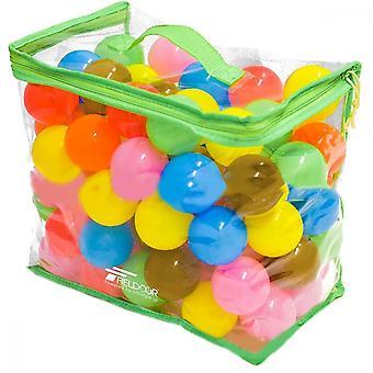 100 Count 7 farver BPA Gratis Crush Proof Plastic Balls