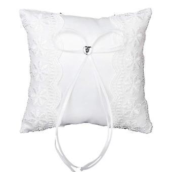 Lace Hook Flower Ring Pillow Hollow Flower Bride Diamond Bearer Pillow Cushion