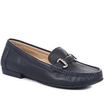 Jones 24-7 Womens Gabriela Leather Wide Fit Loafers