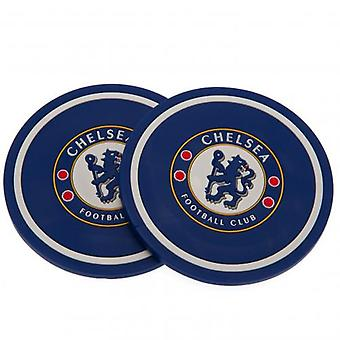 Chelsea FC 2 Pack Coaster Set