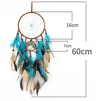 Dream Catcher, Turquoise Glowing Indian Amulet