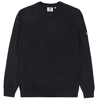 Lyle & Scott Men's Knitted Sweater Acid Wash Knitted Jumper