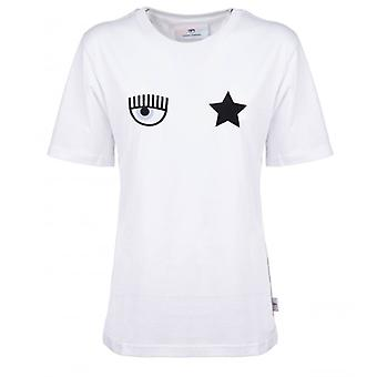 Chiara Ferragni Eyestar White T-shirt