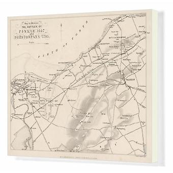 Battle of Pinkie/Plan. Box Canvas Print. A plan of the Battle of Pinkie where thousands of.