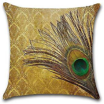 """Pillowcases shams 1 peacock feather decor pillow case sofa throw square cushion cover case green 18"""""""