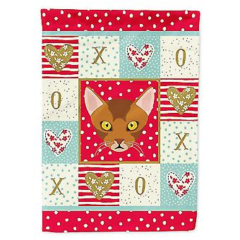 Flags windsocks carolines treasures ck5077chf abyssinian cat love flag canvas house size