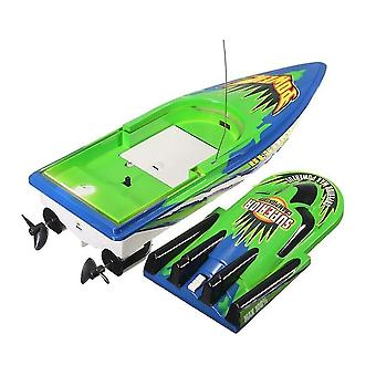 Remote control boats watercraft boat 30km/h high speed racing rechargeable batteries remote control boat green