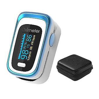 Vinger pulse oximeter digitale vingertop pulse oximeter oled spo2 pr 8 uur slaapmonitor oxymeter