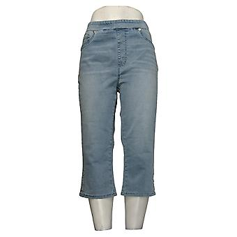 DG2 by Diane Gilman Dames Shorts Stretch Denim Pull-On Blue 741935