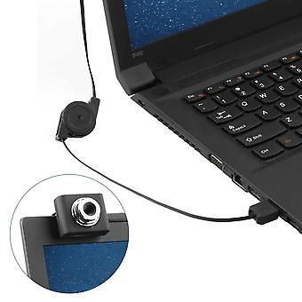 Mini Usb2.0 5 Mégapixels Clip Rétractable Webcam Webcam Caméra Web pour PC portable