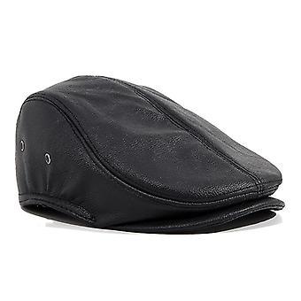 Mimigo Cowskin Leather Hat-adults Peau de vache réglable en cuir véritable Ivy Cap Newsboy Hat