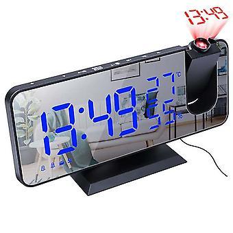 Fm Radio Led Digitale Slimme Wekker Tafel Elektronische Desktop Klokken Usb Wake Up Clock Met Projectie Tijd Snooze