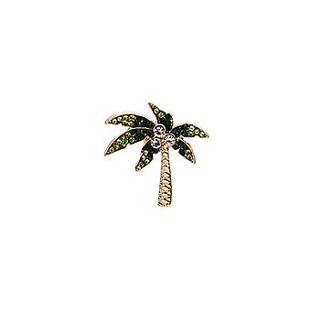Creative Cartoon Diamond-encrusted Pineapple Coconut Palm Alloy Collar Pin