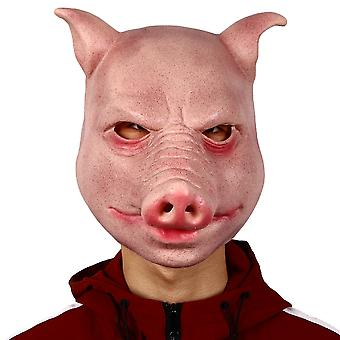 Halloween Party Mask Latex Mask Stage Performance Props Pig Head Mask Cos Dress Up