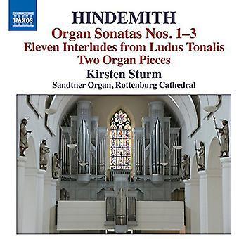 Hindermith / Sturm - orgel sønner 1-3 & andre arbeider for orgel [DVD] USA import