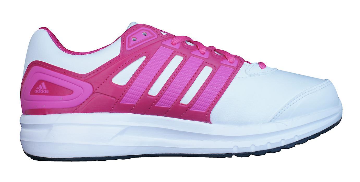 Adidas Duramo 6 K Girls Running Trainers / Shoes - White Pink