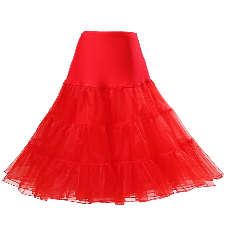 50's Petticoat Underskirt Retro Vintage 1950's Rockabilly White, Black, Red