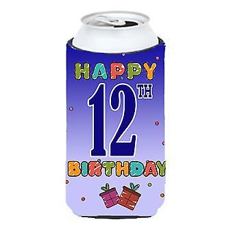 Glad 12 födelsedag lång pojke dryck isolator Hugger