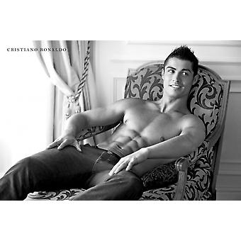 Christiano Ronaldo Abs affiche Poster Print
