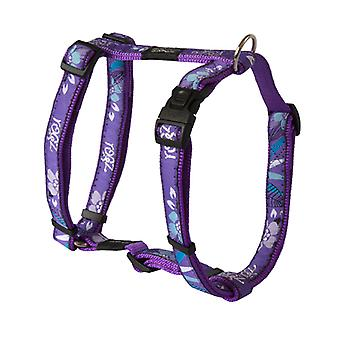 Rogz Fancy Dress Forest Design Durable Dog H-Harness, Roxo