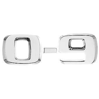 Luxbling car chrome 3D number - silver 0-9