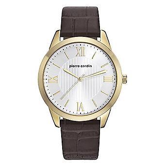 Pierre Cardin mens watch wristwatch leather PC107891F04