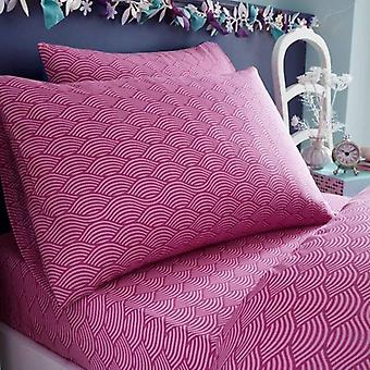 Mermaid Striped Single Fitted Sheet And Pillowcase Set