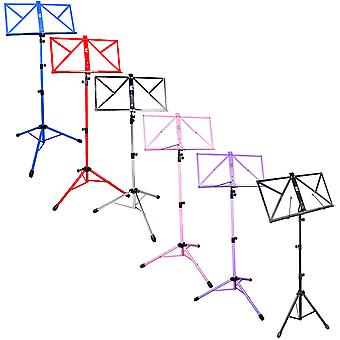 TGI Music Stand and Carry Bag - Available in Black, Chrome, Red, Blue, Pink or Purple