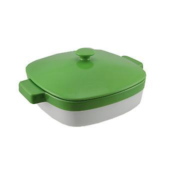 KitchenAid grøn og hvid 1.9 Quart dækket keramiske bagning parabol