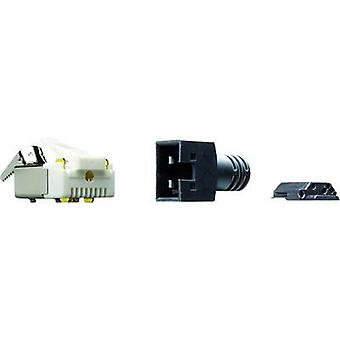 RJ45 CONNECTOR CAT 5 Plug, straight Number of pins: 8P4C Y-CONKIT-11 Black Yamaichi Y-CONKIT-11 1 pc(s)