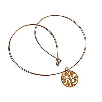 Tree of life gold bronze tree of life necklace gold plated necklace