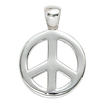 Silver Pendant peace pendant peace sign 925 sterling silver rhodium plated