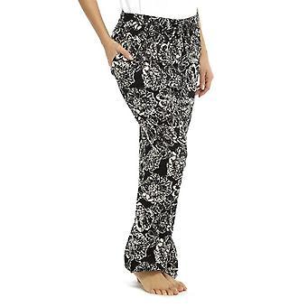 Mujeres ligero pantalón de verano impresión monocromo fondos salón usar pantalones
