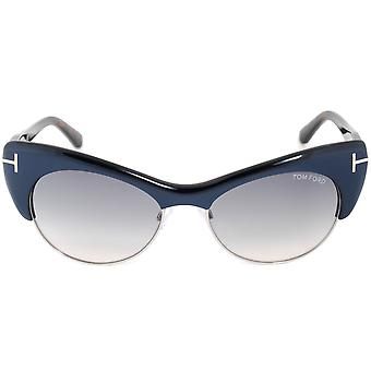 Tom Ford Lola Sunglasses FT0387 89W | Navy Blue Frame | Blue Gradient Lens