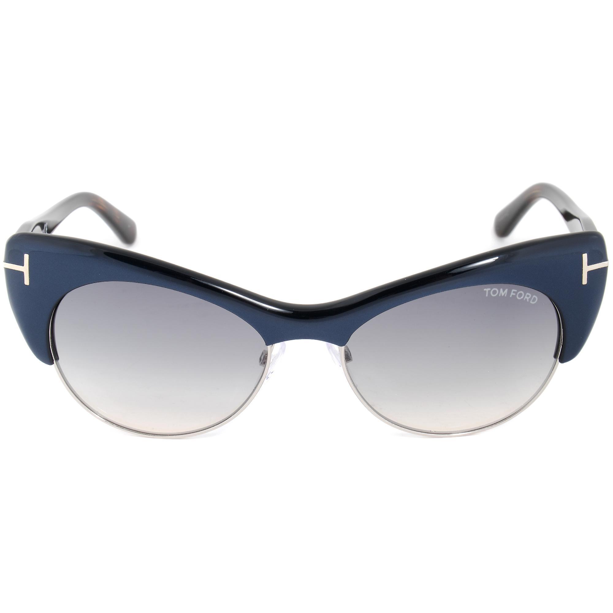 Tom Ford Lola Sunglasses FT0387 89W | Navy Blue Frame | Blue Gradient Lens