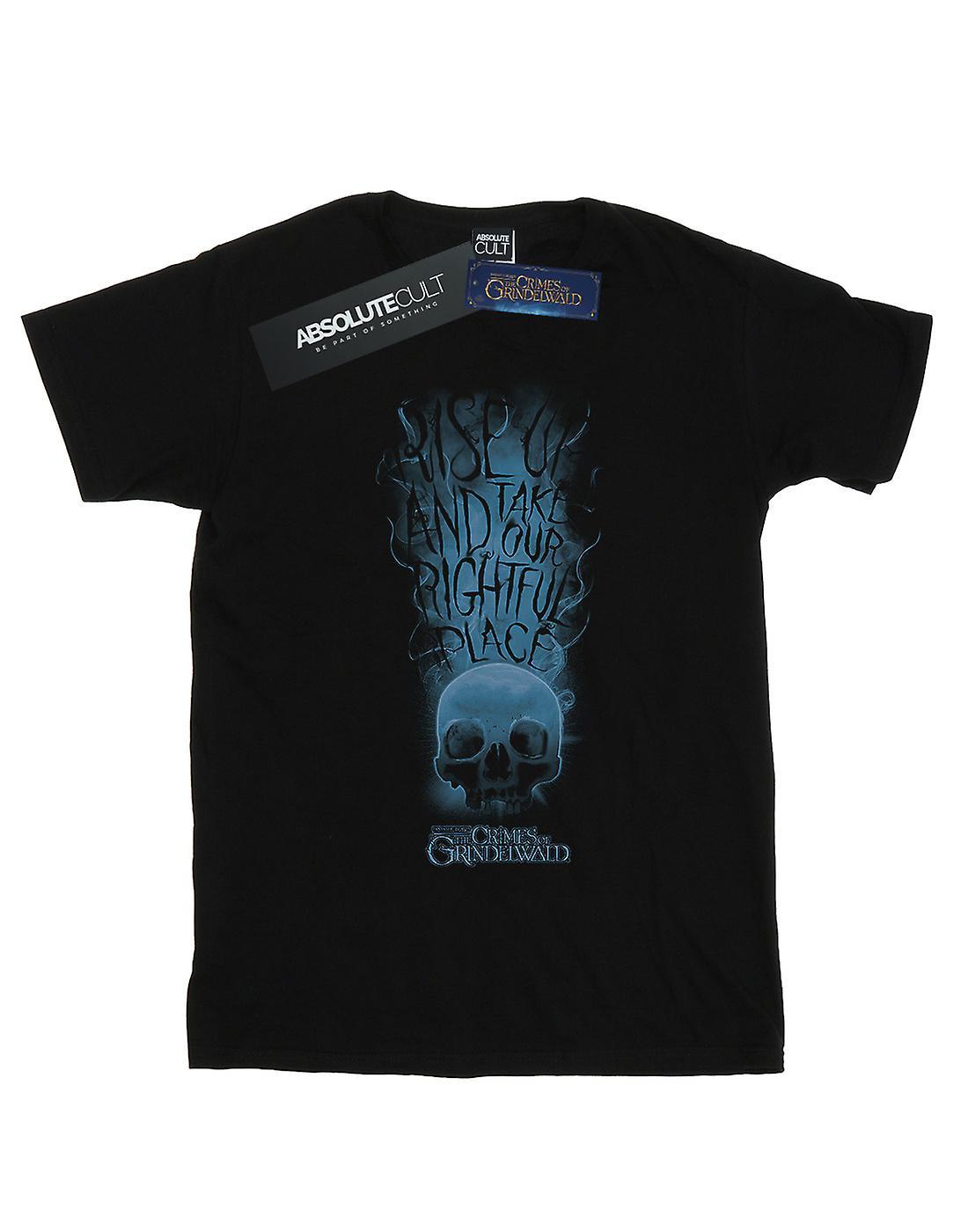 Fantastic Beasts Women's The Crimes Of Grindelwald Skull Smoke Boyfriend Fit T-Shirt