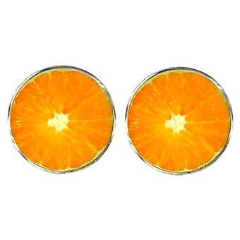 Басин и коричневого оранжевый плод запонки - оранжевый