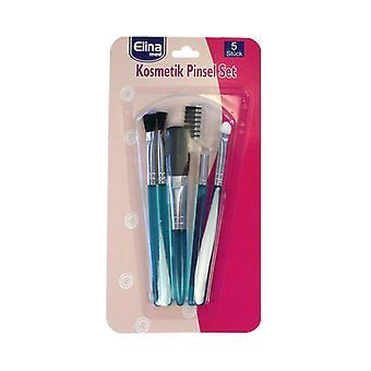 Elina Makeup Brushes 5-pack (blue)